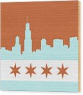 Chicago Skyline 540 3 Wood Print