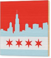Chicago Skyline 541 1 Wood Print