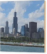 Chicago Skyline 7 Wood Print