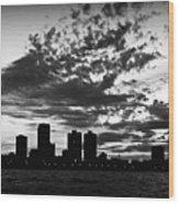 Chicago Skyline At Dusk Wood Print