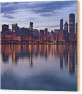 Chicago Skyline March 2009 Wood Print