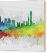Chicago Skyline Mmr-usilch05 Wood Print