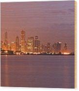 Chicago Skyline Panoramic 2 Wood Print