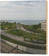 Chicago Skyline Showing Monroe Harbor Wood Print