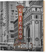 Chicago State Street Wood Print