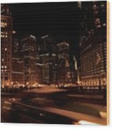 Chicago Streets Wood Print