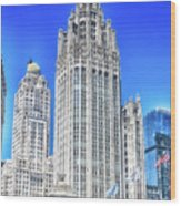 Chicago The Gothic Tribune Tower Wood Print
