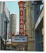 Chicago Theater - 1 Wood Print