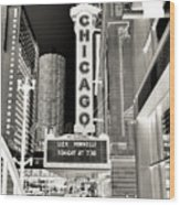 Chicago Theater - 2 Wood Print