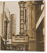 Chicago Theater - 3 Wood Print