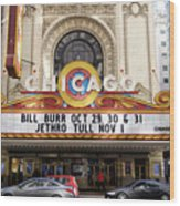 Chicago Theater Marquee Jethro Tull Signage Wood Print