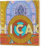 Chicago Theatre Wood Print