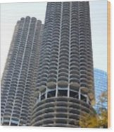 Chicago Twin Corn Cob Building  Wood Print