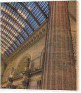 Chicago Union Station Column Wood Print