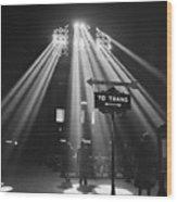 Chicago Union Train Station - 1943 Wood Print