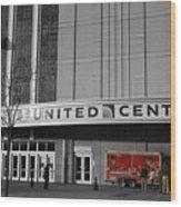 Chicago United Center Signage Sc Wood Print