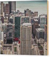 Chicago Views Wood Print