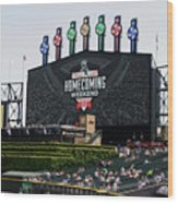 Chicago White Sox Home Coming Weekend Scoreboard Wood Print