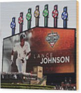 Chicago White Sox Lance Johnson Scoreboard Wood Print