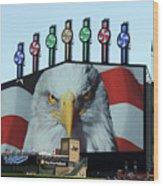 Chicago White Sox Usa Eagle Scoreboard Wood Print