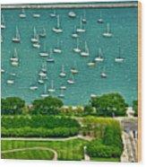 Chicago's Dusable Harbor  Wood Print
