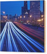 Chicagos Lake Shore Drive Wood Print
