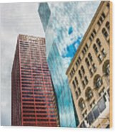 Chicago's South Wabash Avenue  Wood Print