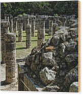 Chichen Itza - Mexico - Ancient Colums Wood Print