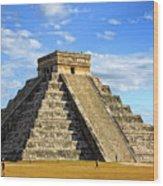 Chichen Itza Pyramid Wood Print
