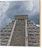 Chichen-itza Pyrmid In Mexico Wood Print