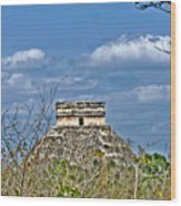 Chichen Itza Sunny Side Wood Print