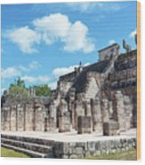 Chichen Itza Temple Of The Warriors Wood Print