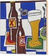 Chichis Y Cervesas Wood Print by Rojax Art