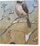 Chickadee Part 2 Wood Print