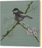 Chickadee Wood Print