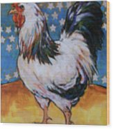 Chicken And Stars Wood Print