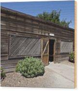 Chicken Coop At Ardenwood Historic Farm Wood Print