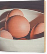 Chicken Eggs Wood Print