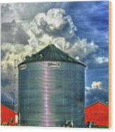Chicken Feed Other Worldly Sky Art Wood Print