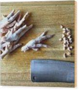 Chicken Feet Wood Print