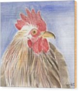 Chicken Wood Print