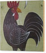 Chicken Kitty Wood Print