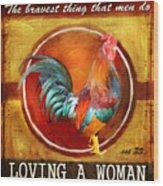 Chicken Little Wood Print by Joel Payne