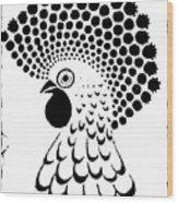 Chicken Tattoo  Wood Print