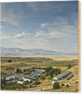 Chico Hot Springs Pray Montana Panoramic Wood Print
