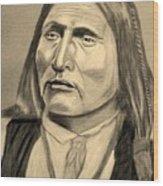 Chief Big Bow Wood Print