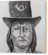 Chief Bird-arapahoe Wood Print