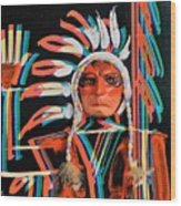Chief Brill Yount Wood Print