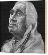 Chief Dan George Wood Print
