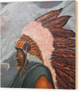 Chief Eagle Cloud Wood Print